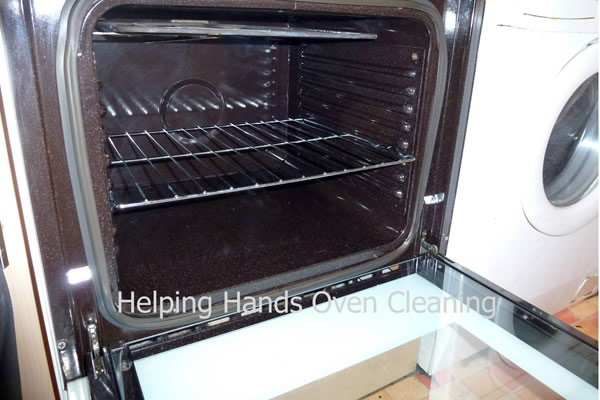 very dirty oven after cleaning